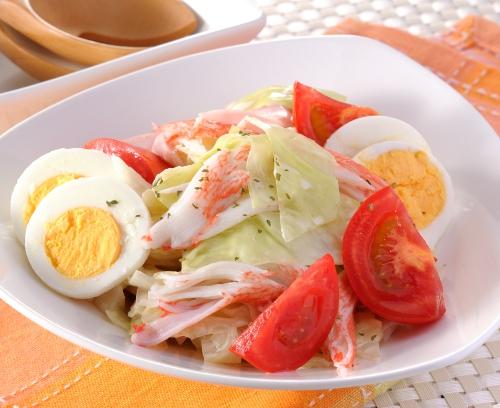 柚子ポン酢でさっぱり卵サラダ